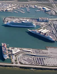 port canaveral cruise port aerial view
